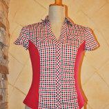 Красивая непринужденная приталенная блуза коротким рукавом John Banner 36р