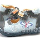 Кожаные туфли Польша-Италия для девочки 21,22р