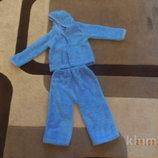 теплый костюмчик флисовый травка рваная махра