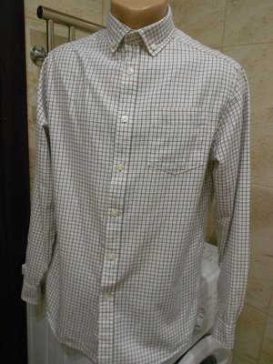 113. Рубашка в клетку с длинным рукавом. Tu. Размер М.