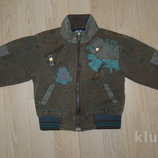 Демисезонная куртка ветровка с утеплением мальчику на 5-6 лет