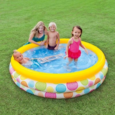 Надувной бассейн 58449 детский Intex 168х39см Интекс