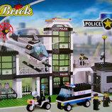 Конструктор 110 Полиция, Brick, Брик , 430 деталей
