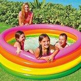 Бассейн 56441 детский надувной Intex Радуга Интекс, басейн дитячий