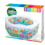 Надувной бассейн детский Intex 56493 Аквариум Интекс