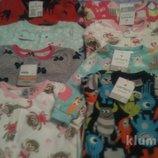 Новые флисовые пижамки carters для мальчиков и девочек