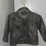 куртка-ветровка кожаная на мальчика р.92-98