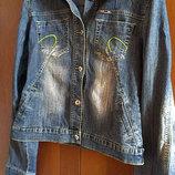 джинсовая куртка,джинсовка женская 46-48р,джинсовый пиджак жакет