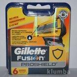 Супер новинка от Gillette Сменные картриджи Fusion Proshield оригинал упаковка 6 штук.