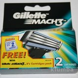 Gillette Mach 3 упаковка 2 штуки оригинал Германия