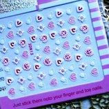 Слайдер дизайн-1 лист 15 грн -для ногтей наклейки, дизайн, водные, акрил, гель, гель-лак 1