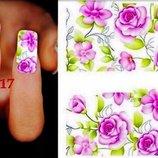 5 грн- лист -Слайдер дизайн - для ногтей, наклейки, дизайн, водные, акрил, гель, гель-лак,лак
