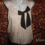 Фирменная стильная атласная блуза 48 размер