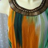 Платье женское летнее стильное легкое элегантное миди бренд George р.50 6430а