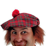 Карнавал Берет шотландский с волосами