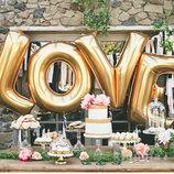 Свадьба 16 Золото Love фольгированные шары для надувания