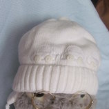 Тёплая шапка, демисезонная шапка, шапка на завязках