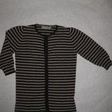 красивая кофта в полоску Zara, 8-10 размер, на кнопочках