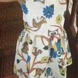Очень красивое платье на девочку с совами В Наличии
