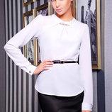 Классическая белая блузка из шифона Энни