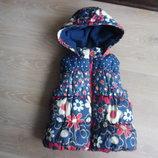 куртка балон безрукавака 4-5 лет новая красивая оригинал цветочный принт девочке Next Некст