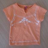 футболка оранжевая 104-110 см детская девочке Girl2Girl герл2герл