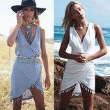 женская Хит ажурная туника - платье - юбка пляжное секси прозрачное
