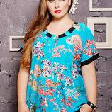 Блузы с оригинальной спинкой 52-62 размера