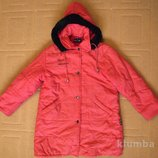 Фирменная куртка пальто Amadeo на девочку р.130