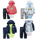 Новая коллекция Хлопковые костюмы-тройки Carters на малышей 55-83см