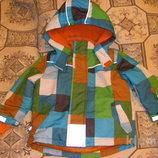 Теплая непродуваемая куртка Тополино осень - зима 98-128