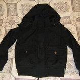 Непродуваемая теплая куртка-танк, сдержанная и стильная весенняя куртка - пилот Некст, рост 134-146