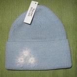 Теплая шапочка, размер 50, шерсть, новая