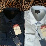 Новые итальянские рубашки с длинным рукавом р. XL