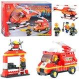 Конструктор Sluban M38 B0219 620029 Пожарные спасатели, вертолет, 211 де
