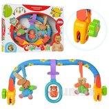 Дуга с игрушками на кроватку или коляску 391. Качественная