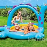 Детский надувной бассейн 57437 Динозаврик