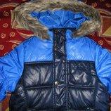Новая Теплая осенне-зимняя куртка Тополино 98 - 122