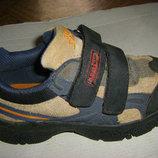 Летние кожаные сандали, стильные кожаные кроссовки Адидас 30 - 31 р.