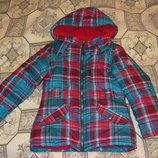 Стильные осенне-зимние куртки Тополино в клетку и с вязаным рисунком 98 -128