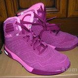 Коричневые и розовые высокие ботинки-кроссовки- сапожки Рибок Изитон