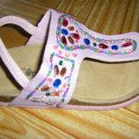 Лучшая обувь девочке - шлепанцы, кожаные, шикарные новые босоножки 27-30 р.