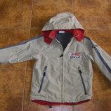 Куртки модному ребенку в идеальном состоянии, бежевая и хаки куртка-ветровка 122-128