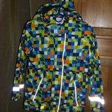 Эффектная и оригинальная куртка - ветровка на флисе Тополино 98-110-116 и 122-134