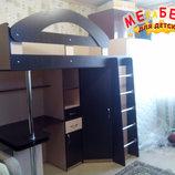 Кровать-Чердак с выдвижным столом и угловым шкафом к29 Merabel