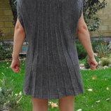 Интересная туника, платье крупной вязки А силуета с вотором хомут и заниженными рукавами