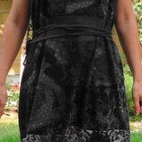 Интересное платье DiDi трикотаж и шёлк. XL