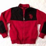Куртка худи Ralph Lauren на 7-8 лет. Оригинал. Теплая кофта, свитшот на флисе.