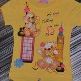 Красивые нежные футболочки - в персиковом и желтом цвете