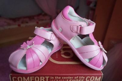 Босоножки для девочки, цвет розовый, новые, 24, 25, 26, 27 размер